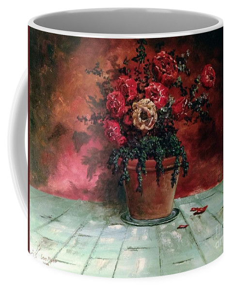 Still Life Coffee Mug featuring the painting The Yellow Rose by Lee Piper