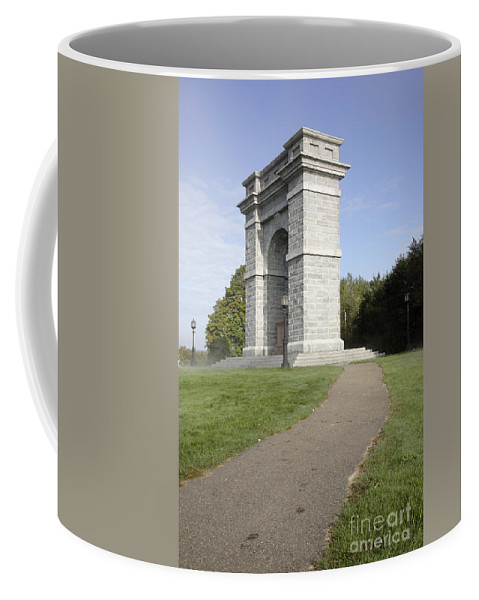 Landscape Coffee Mug featuring the photograph Titus Arch Replica - Northfield NNew Hampshire by Erin Paul Donovan