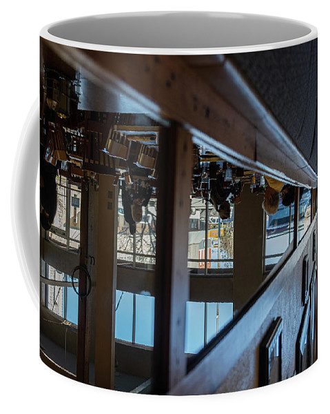Reflections Eating Diner Food Mirror People Upside Down Coffee Mug featuring the photograph Tnarautser by Peyton Vaughn