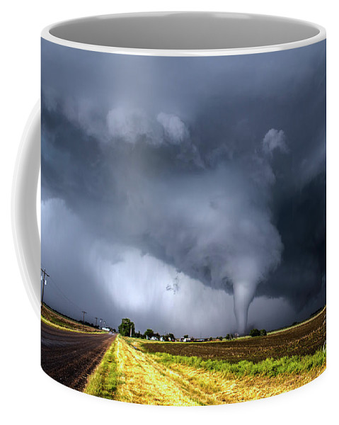 Coffee Mug featuring the photograph Tornado Highway by Francis Lavigne-Theriault
