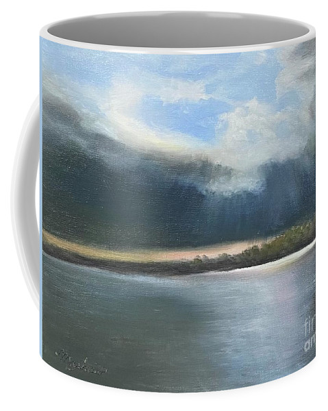 River Coffee Mug featuring the painting Tranquility by Sheila Mashaw