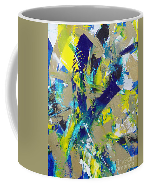 Abstract Coffee Mug featuring the painting Transitions IX by Dean Triolo
