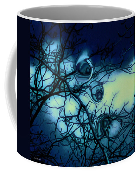 Trees Coffee Mug featuring the photograph Trees have eyes by Linda Sannuti