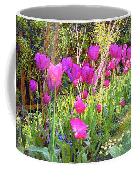 Floral Coffee Mug featuring the painting Tulip Beauty by Jane Small