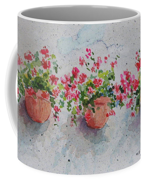 Florals Coffee Mug featuring the painting Tuscan Flowers by Mary Ellen Mueller Legault