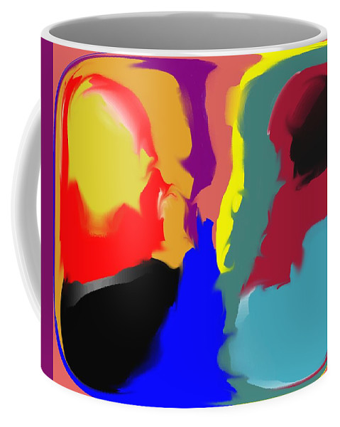 Abstract Coffee Mug featuring the digital art Two Peas in a Pod by Pharris Art