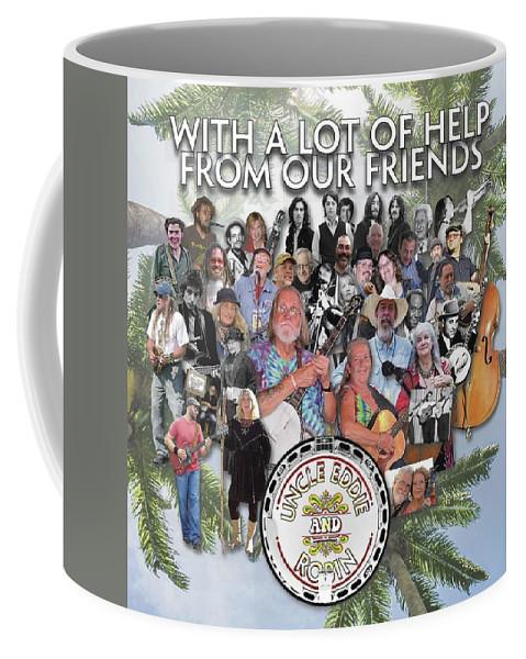 Uncle Eddie And Robin Cd Cover Coffee Mug featuring the digital art Uncle Eddie and Robin CD by Scott Waters