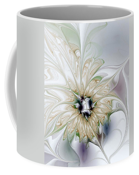Digital Art Coffee Mug featuring the digital art Unfurled by Amanda Moore