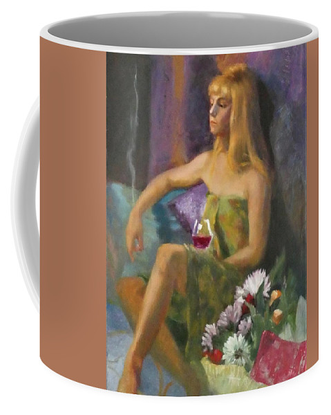 Portrait Coffee Mug featuring the painting Unloved Flowers by Irena Jablonski