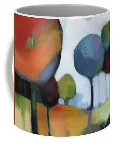Landscape Coffee Mug featuring the painting Untitled III by Farhan Abouassali