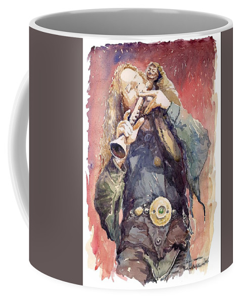 Watercolour Coffee Mug featuring the painting Varius Coloribus Nils Inspired by Yuriy Shevchuk