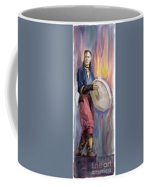Watercolor Coffee Mug featuring the painting Varius Coloribus Steve O Klat by Yuriy Shevchuk