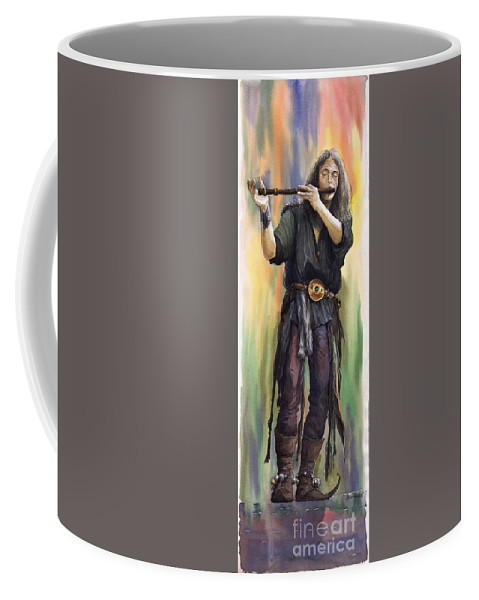 Instrument Coffee Mug featuring the painting Varius Coloribus The Morning Song Nils by Yuriy Shevchuk