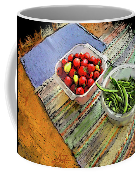 Digital Coffee Mug featuring the digital art Veggies by Arthur Fix