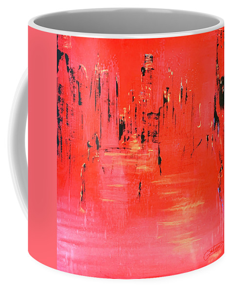 Art Coffee Mug featuring the painting Village morning 2020 Pandemic by Jack Diamond