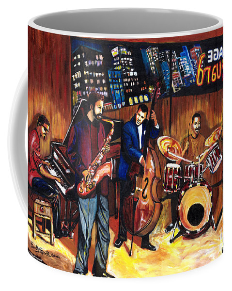 Everett Spruill Coffee Mug featuring the painting Village Vanguard by Everett Spruill