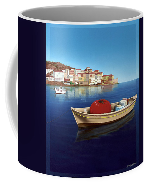 Mediterranean Coffee Mug featuring the painting Vine Ripened by Snake Jagger