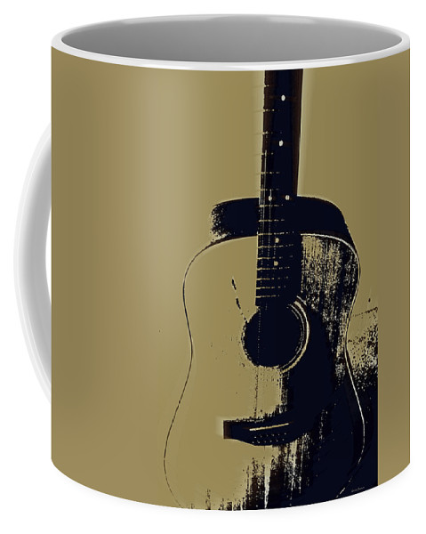 Vintage Guitar Art Coffee Mug featuring the photograph Vintage Guitar by Linda Sannuti