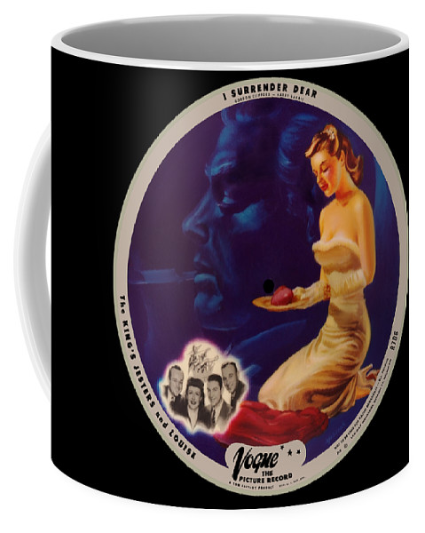 Vogue Picture Record Coffee Mug featuring the digital art Vogue Record Art - R 708 - P 3 - Square Version by John Robert Beck