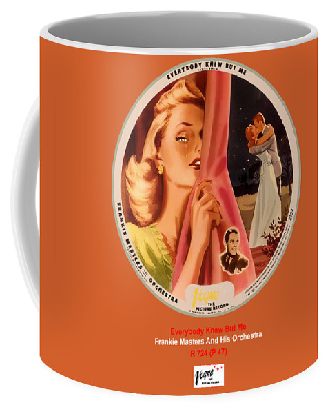 Vogue Picture Record Coffee Mug featuring the digital art Vogue Record Art - R 724 - P 47 by John Robert Beck