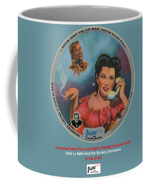 Vogue Picture Record Coffee Mug featuring the digital art Vogue Record Art - R 740 - P 85 by John Robert Beck