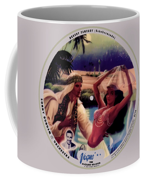 Vogue Picture Record Coffee Mug featuring the digital art Vogue Record Art - R 774 - P 141 - Square Version by John Robert Beck