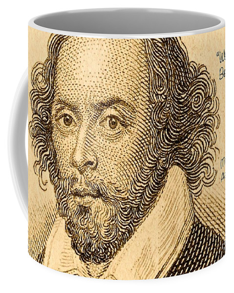 Quote From William Shakespeare Coffee Mug featuring the digital art We Have Seen Better Days by James Temple