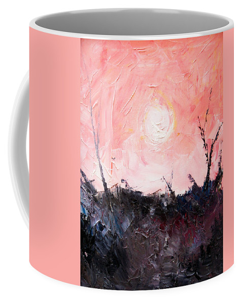 Duck Coffee Mug featuring the painting White Sun by Sergey Bezhinets