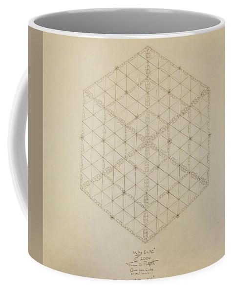 E=mc2 Coffee Mug featuring the drawing Why E equals MC2 by Jason Padgett