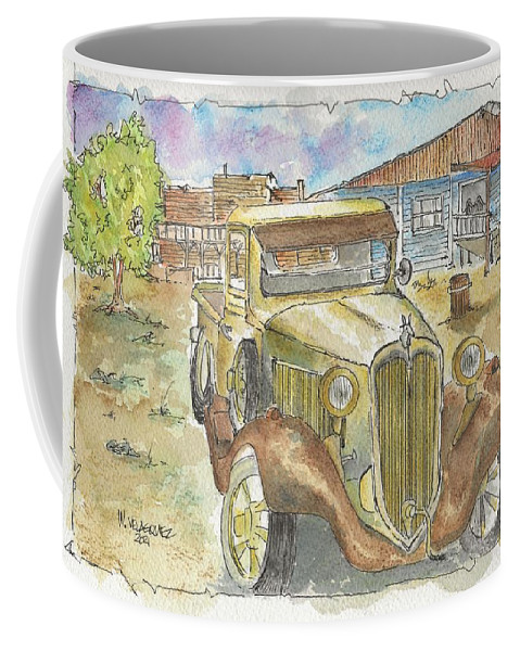 Wild West Coffee Mug featuring the painting Wild West by Wade Velasquez