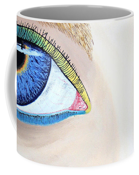 Eye Catching Coffee Mug featuring the painting Window I by Dean Stephens