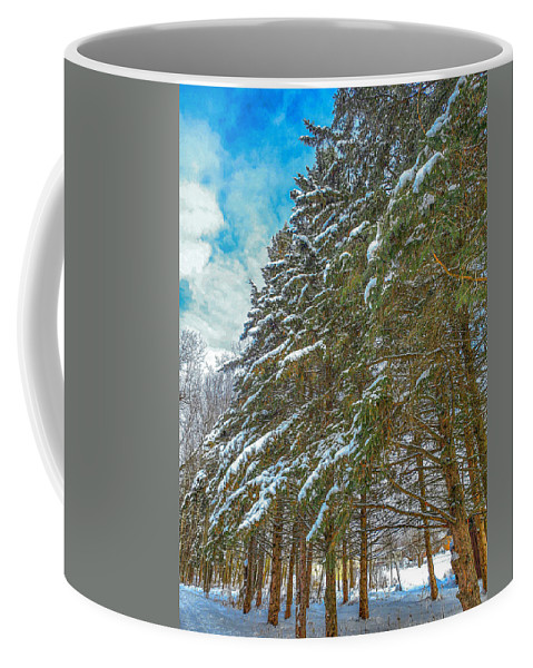 Nature Coffee Mug featuring the photograph Winter trees by M Forsell
