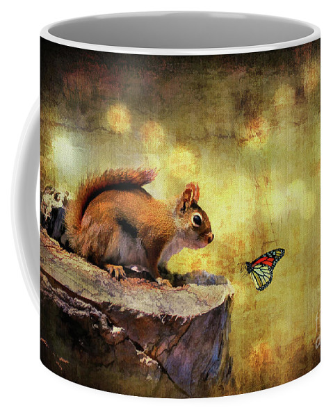 Wildlife Coffee Mug featuring the photograph Woodland Wonder by Lois Bryan