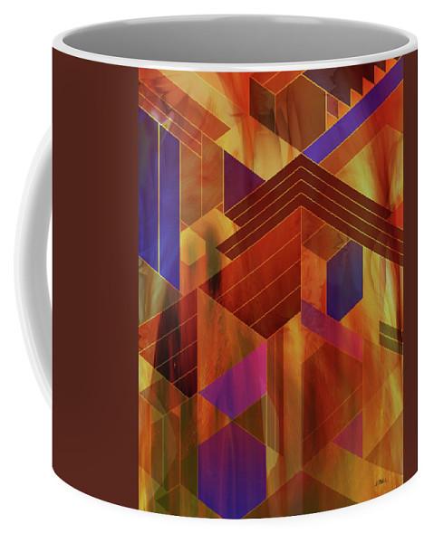 Wrightian Reflections Coffee Mug featuring the digital art Wrightian Reflections by Studio B Prints