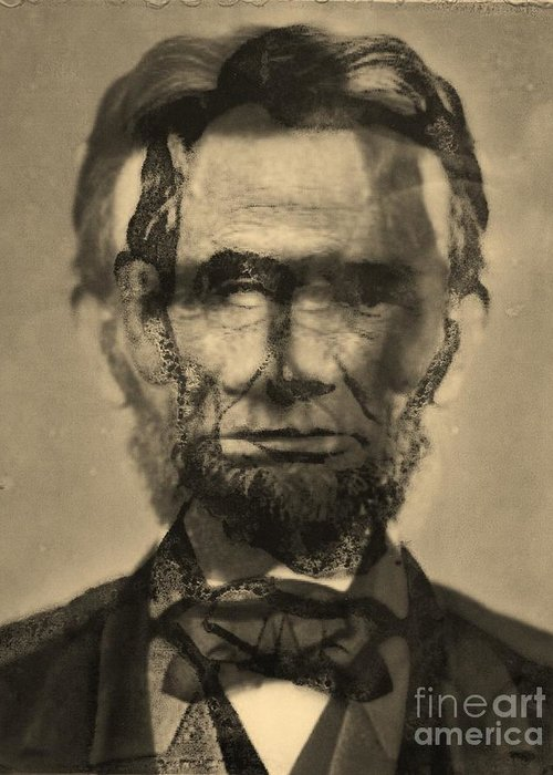 Michael Kulick Artwork Greeting Card featuring the photograph Abraham Lincoln by Michael Kulick