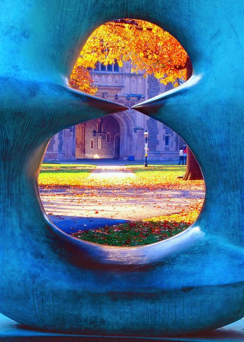 Scenic Greeting Card featuring the photograph Blair Hall Gate by George Oze