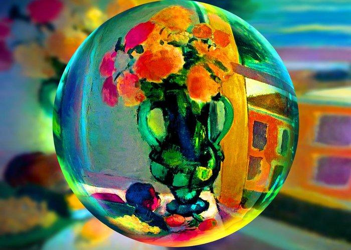 Vase Of Flowers Digital Art Greeting Cards