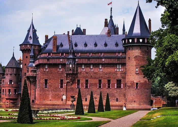 Utrecht Greeting Card featuring the photograph De Haar Castle 4. Utrecht. Netherlands by Jenny Rainbow