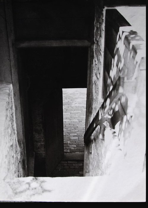 Ephrata Cloisters Greeting Card featuring the photograph Ephrata Cloisters Stairway by Jacqueline M Lewis