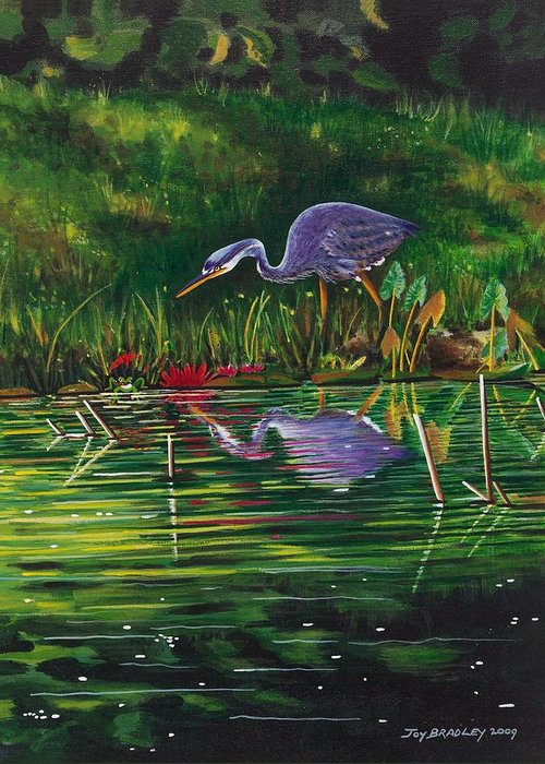 Designs Greeting Card featuring the painting Food Chain  by Joy Bradley