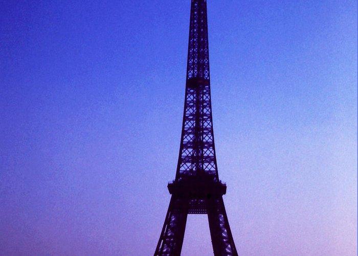 Architecture; Eiffel Tower; Paris; France; Travel; Still Lifes. Greeting Card featuring the photograph La Tour D'eiffel by Robert Rodvik