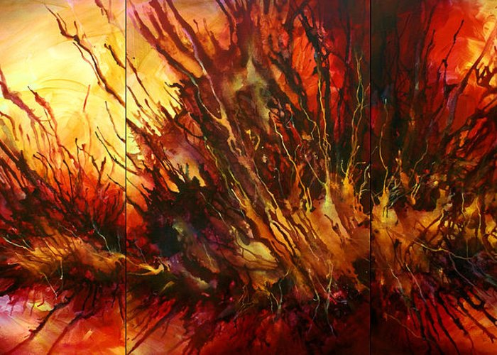 Combustion Paintings Greeting Cards