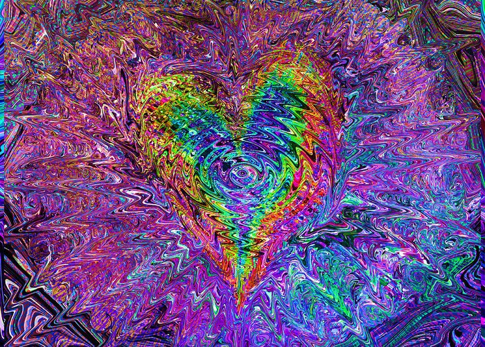 Valentines Greeting Card featuring the mixed media Love From The Ripple Of Thought V 5 by Kenneth James