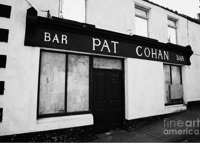 Ireland Greeting Card featuring the photograph Pat Cohans Bar Featured In The John Wayne John Ford Classic The Quiet Man Cong by Joe Fox