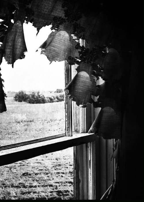 Window Greeting Card featuring the photograph Return From Waiting by Empty Wall