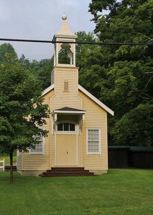 .park Greeting Card featuring the photograph Schoolhouse by Laurie Tracy