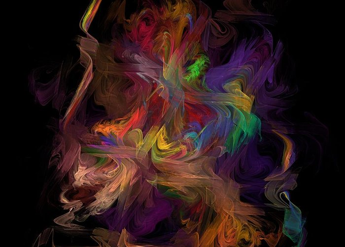 Fractal Fine Art Greeting Card featuring the digital art Veils Of Many Colors by Madeline Allen - SmudgeArt