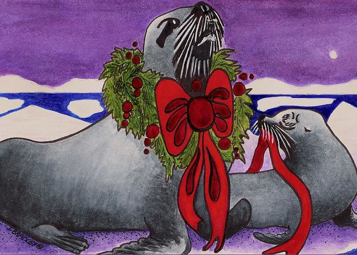 Christmas Greeting Card featuring the painting Wear Your Best by Joy Bradley
