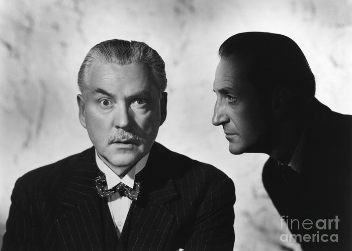 Nigel Bruce Greeting Card featuring the photograph Who Done It? by CSlater