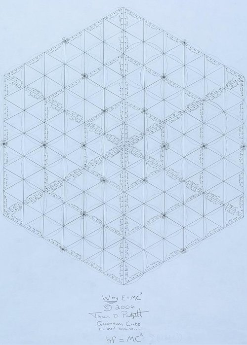 Geometry Drawings Greeting Cards